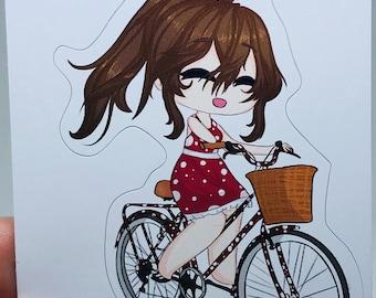 Gacha Girl Riding a Bike - Inclusion Series - Gacha Life Art Sticker