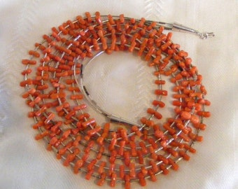 Native American Vintage Salmon Coral Necklace