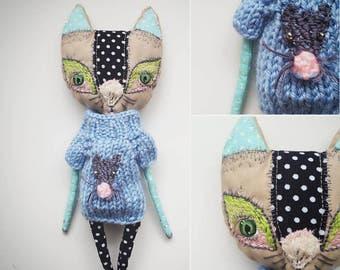 Handmade soft cat doll