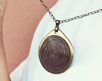 8a4c7ca4ad0 Minimalist Bronze Pendant Necklace Boho Bronze Tone Necklace Long Necklace  Bronze Jewelry Big Pendant Necklace Round Pendant Geometric Brass