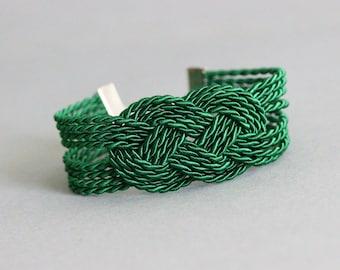 Green Rope Bracelet Green Knot Bracelet Sailor Knot Bracelet Rope Jewelry Rope Bracelet Nautical Bracelet Rope Knot Bracelet Nautical Knot