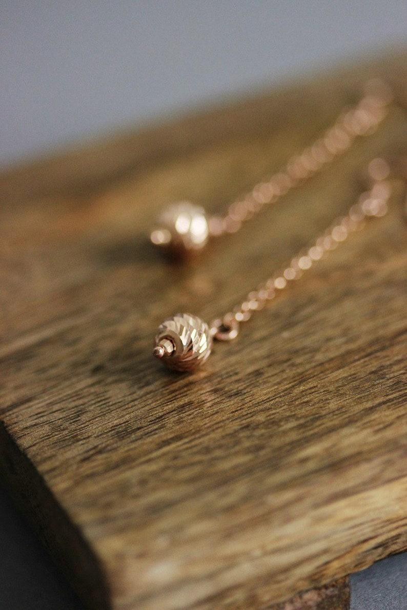 Rose Gold 925 Silver Earrings Dainty Gold Earrings Long Chain Earrings Dangle Earring Rose Gold Earring Delicate Earrings Designer Earrings