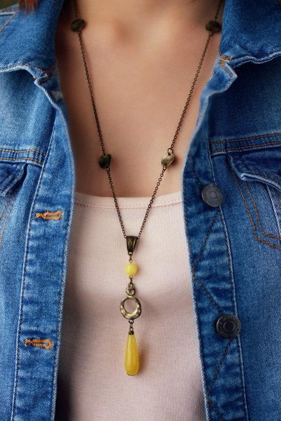 Boho Agate Necklace