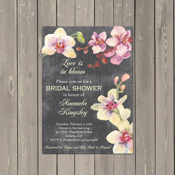 960eac62210e Orchid Bridal Shower Invitation