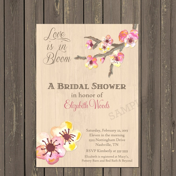 c903f6f1e8aa Cherry Blossom Invitation Cherry Blossom Bridal Shower