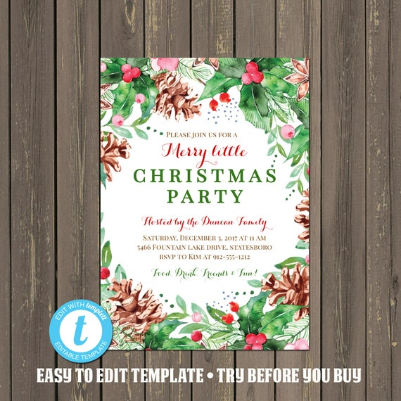 Christmas Party Invitation Ideas.Christmas Party Invitation Holiday Party Invitation
