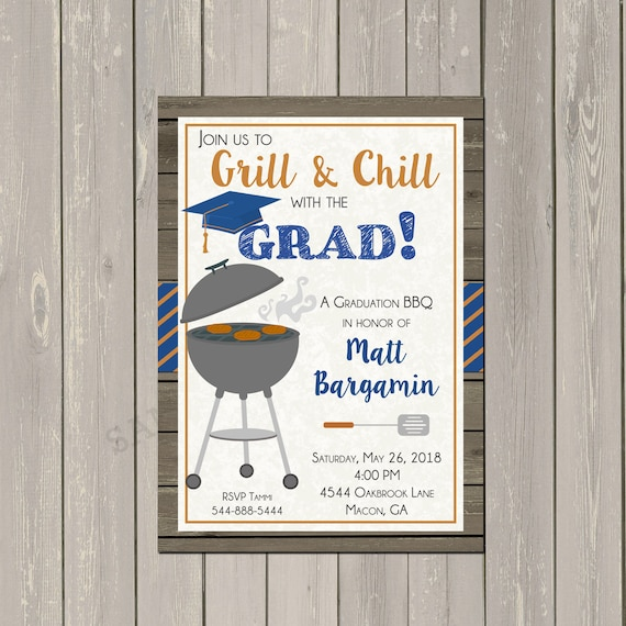 graduation bbq invitation graduation party invitation backyard bbq