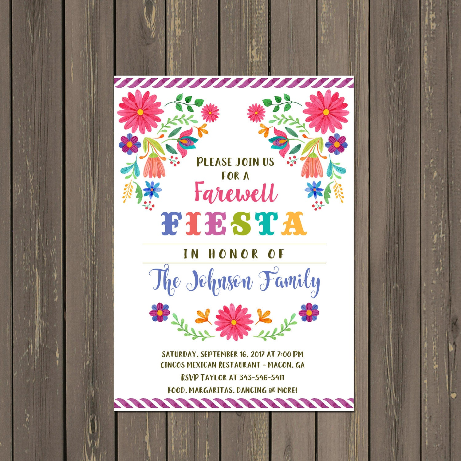 Mexican Fiesta Going Away Party Invitation Farewell Party   Etsy