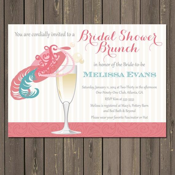 0409904f745d Bridal Shower Brunch Invitation