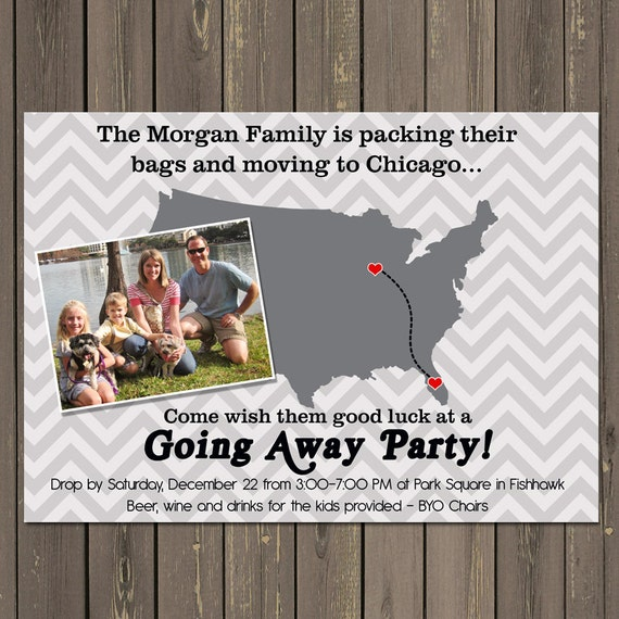 Going Away Party Invitation Moving Farewell Party Invitation Etsy