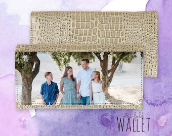 Personalized Wallet - Tri-fold Wallet - Custom Photo Wallet - Faux Leather Wallet - Custom Wallet - Ladies Wallet - Photo Wallet for Women