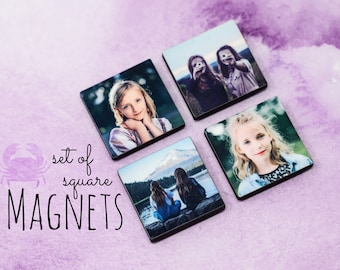 Custom Photo Magnets - Set of Magnets - Personalized Magnets - Small MDF Magnets
