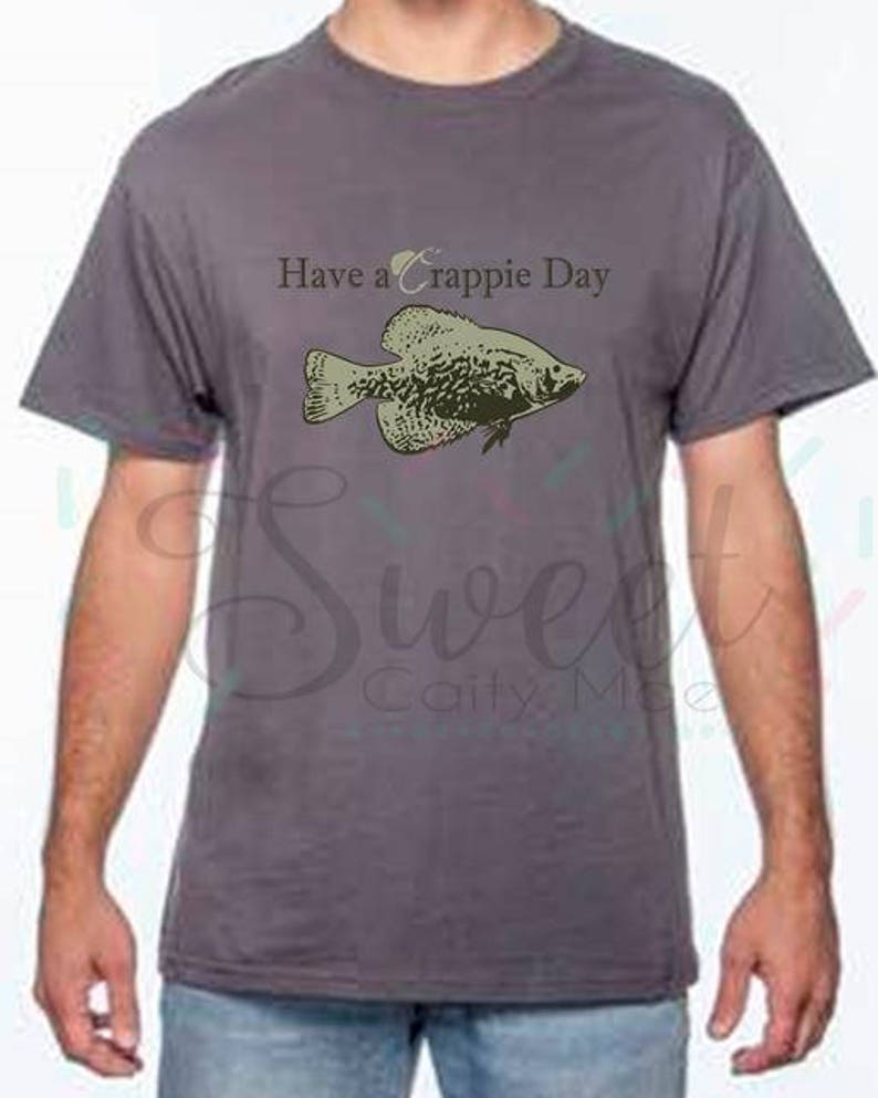Father's Day / Crappie T-Shirt / Cut File / Gift Ideas / Cameo Projects /  Cricut Projects / Silhouette Projects / SVG / Homemade / DIY