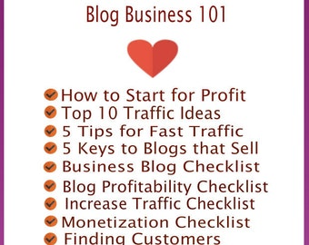 Blog Business 101 EBook-Business, Blogger, Blog Planner, Blog Template, Blogger Theme for Business Blogging with Checklists