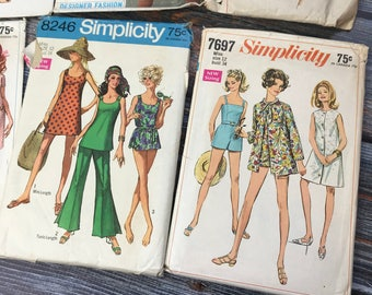 Vintage Sewing Patterns, 1960s Patterns, Simplicity Patterns, Vintage Pattern, Size 12, Pattern Lot, Simplicity, 1960s, Vintage Dress