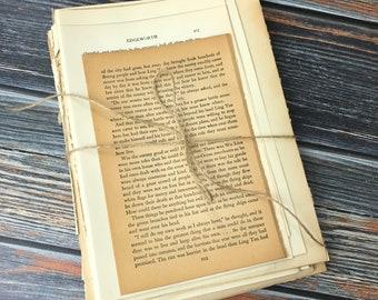 75 Vintage Book Pages, Paper Bundle, Vintage Paper, Ephemera, Junk Journal Kit, Mixed Paper Bundle, Sheet Music, Literature Pages, Atlas