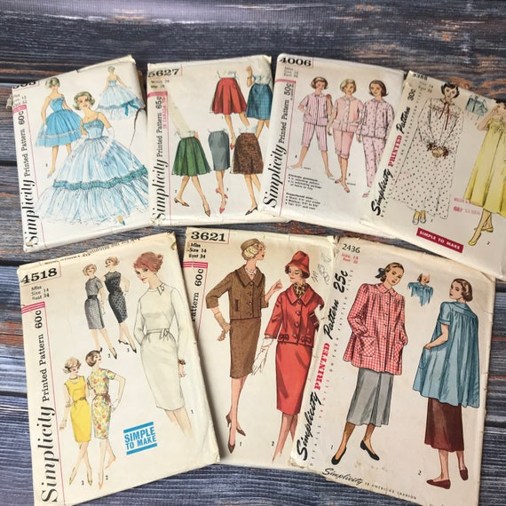 1950s Sewing Patterns 1960s Patterns Simplicity Patterns Etsy