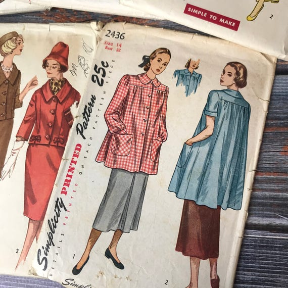 40s Sewing Patterns 40s Patterns Simplicity Patterns Etsy Extraordinary Vintage Simplicity Patterns