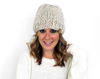 ba9a75ab55e135 Hat Beanie Knit, Unisex Knit Slouchy Beanie Wheat- Hartford Hat