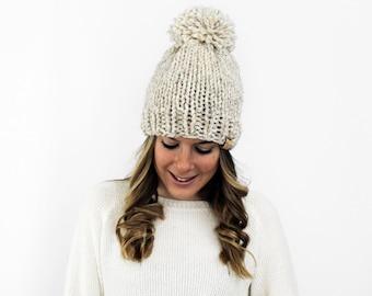 Chunky Knit Hat, 16 Colors, Knitted Beanie Wheat- Pokomoke Hat