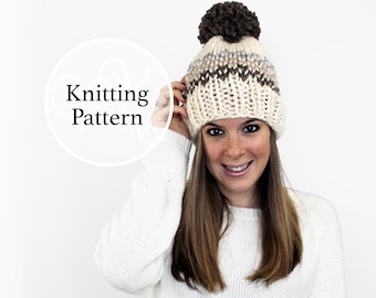 0a04746fca4 Knitting Pattern Potomac Hat Instant Download