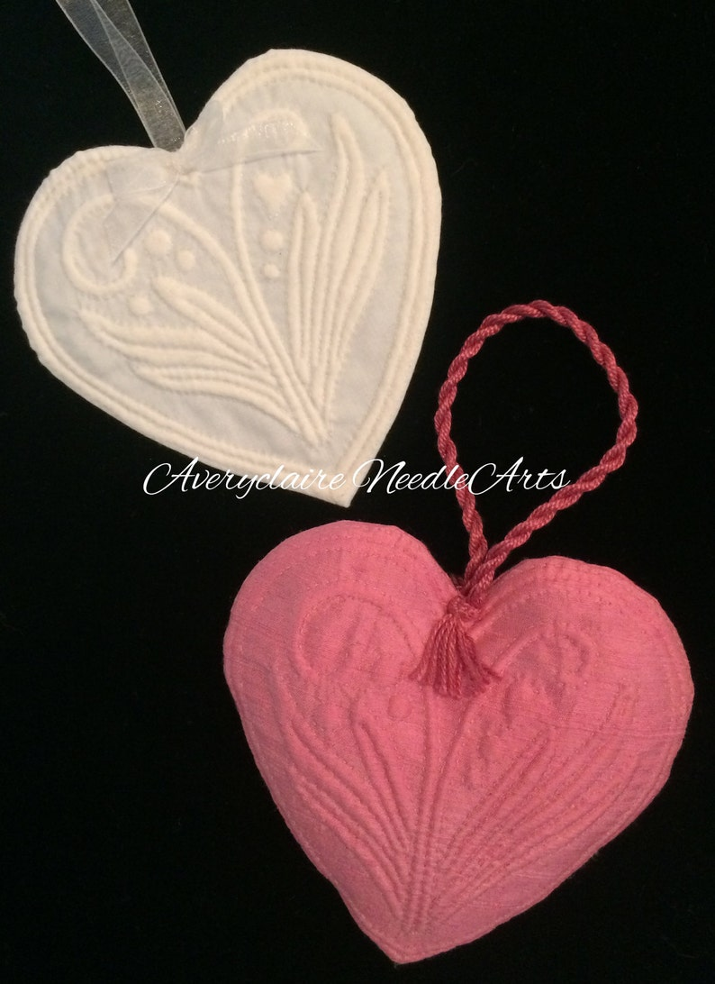 Kit  French Boutis Hearts image 0