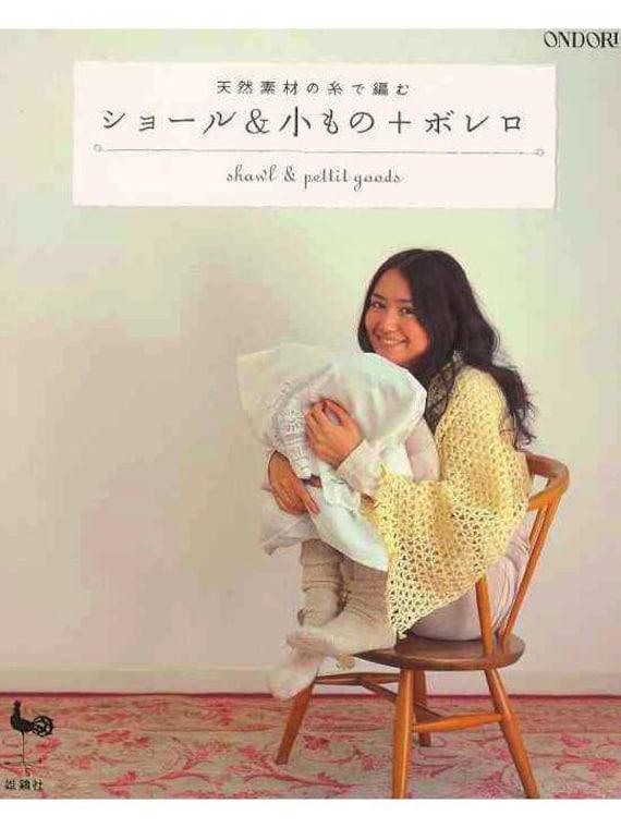Mantón Bolero bufanda Crochet japones PDF libro | Etsy