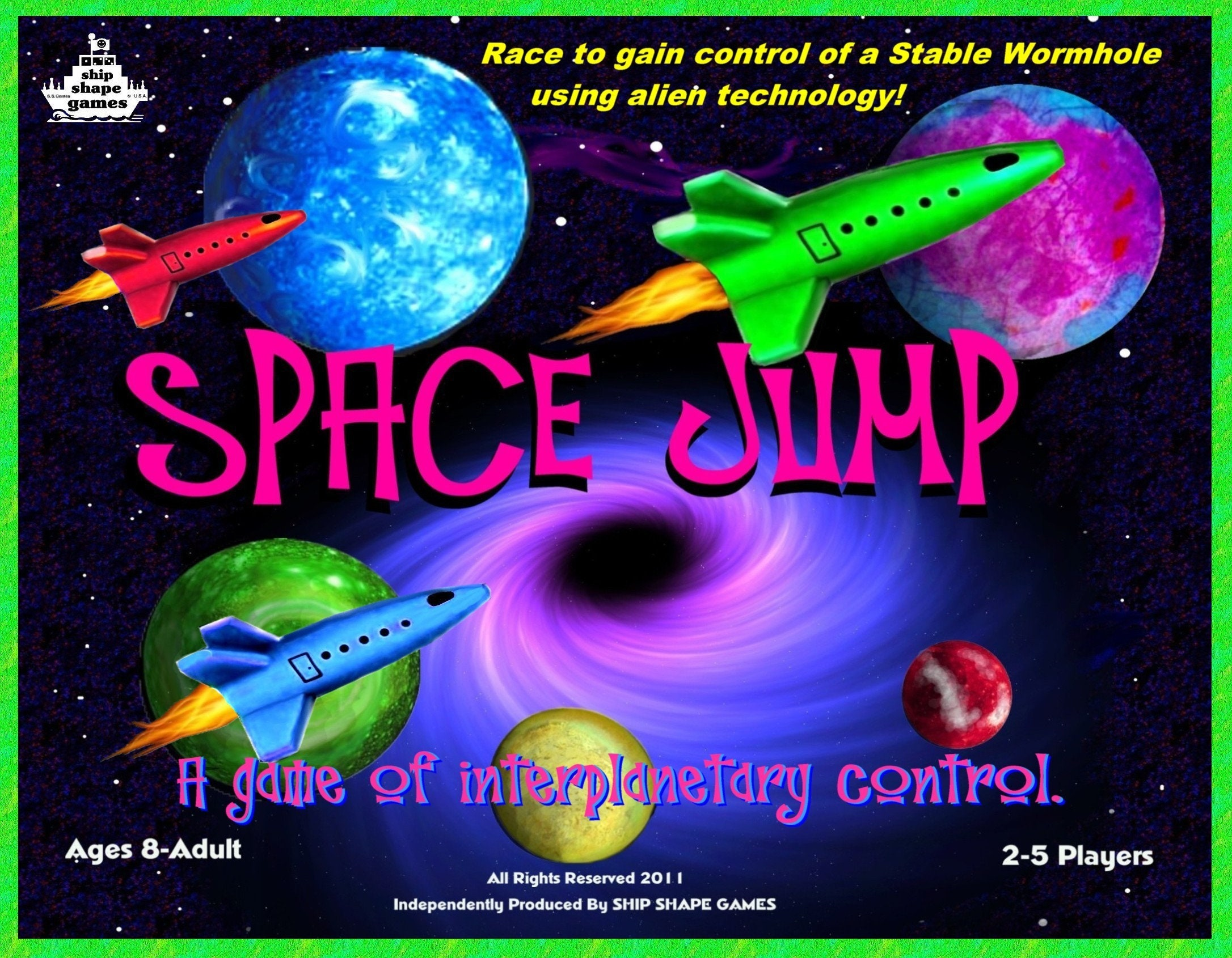 SPACE JUMP board game - Join the space race to harness a