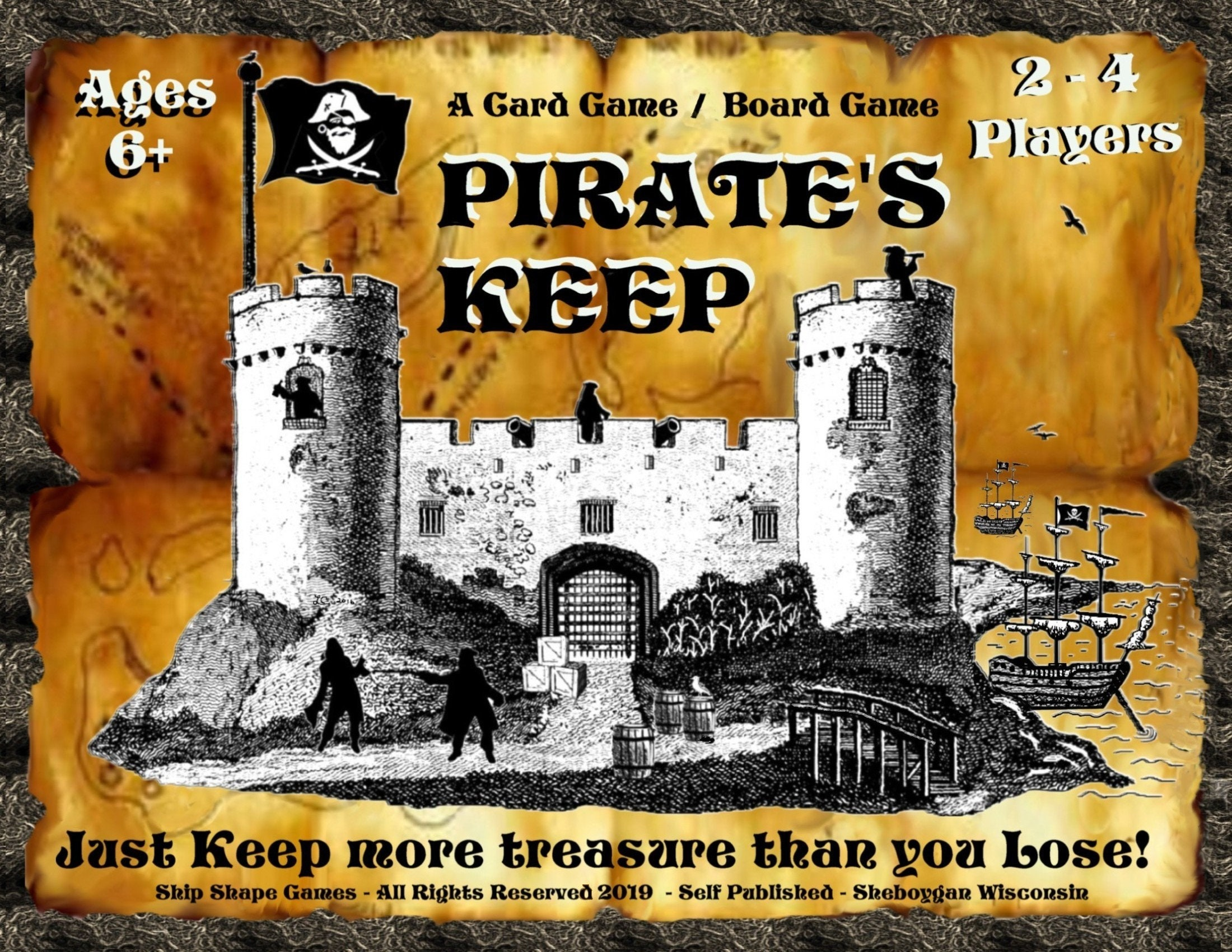 Pirates Keep Board Game - Kids will love the Stinky Cod, in