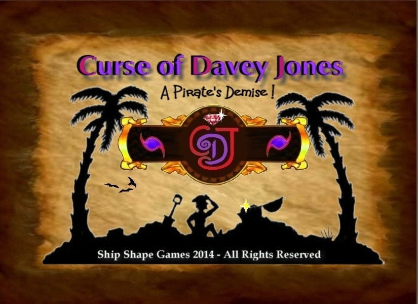 Great Pirate Board Game! Curse of Davey Jones - Pirate