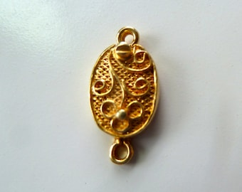 Vintage Goldplated Silver Filigree Jewelry Clasps