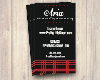 Edgy business card etsy the aria fashion blogger business card printable colourmoves