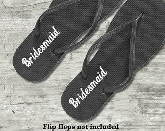 81e541a84dbb9 Bride Flip Flops DECALS
