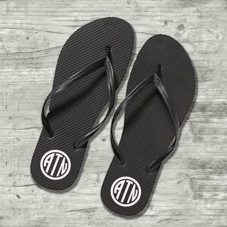 558e83ddd Monogrammed vinyl decals for Flip Flops Bridesmaid flip flop