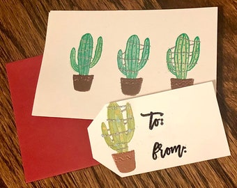 Hand-Painted Heat Embossed Stationary - Alternative Holiday Card