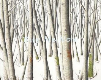Alder Grove in Winter print