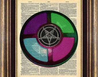 Solomon Says Satan Book Page Print Art Dictionary Page Art Print Up Cycled