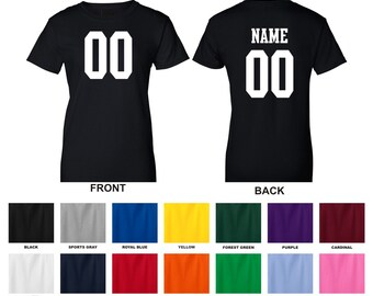 3df763ea1ba0ec Personalized custom jersey style adult woman s t-shirt