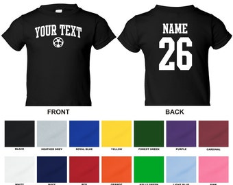 5b79e8687 Personalized custom your text and number soccer ball toddler t-shirt