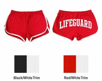 Women's shorts, Lifeguard across the back, interlock running shorts 73001