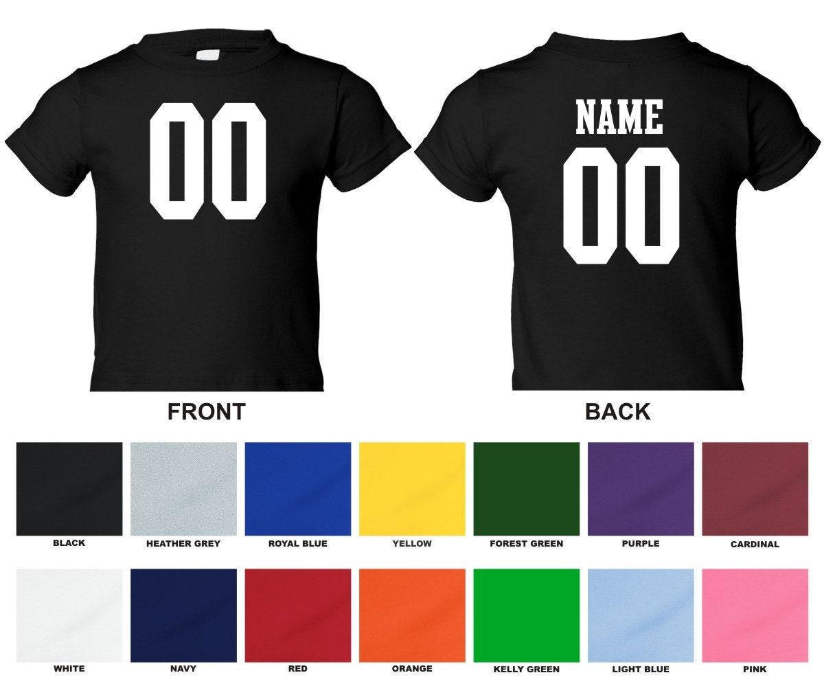 Personalized Custom Jersey Style Infant T Shirt Choose The Etsy
