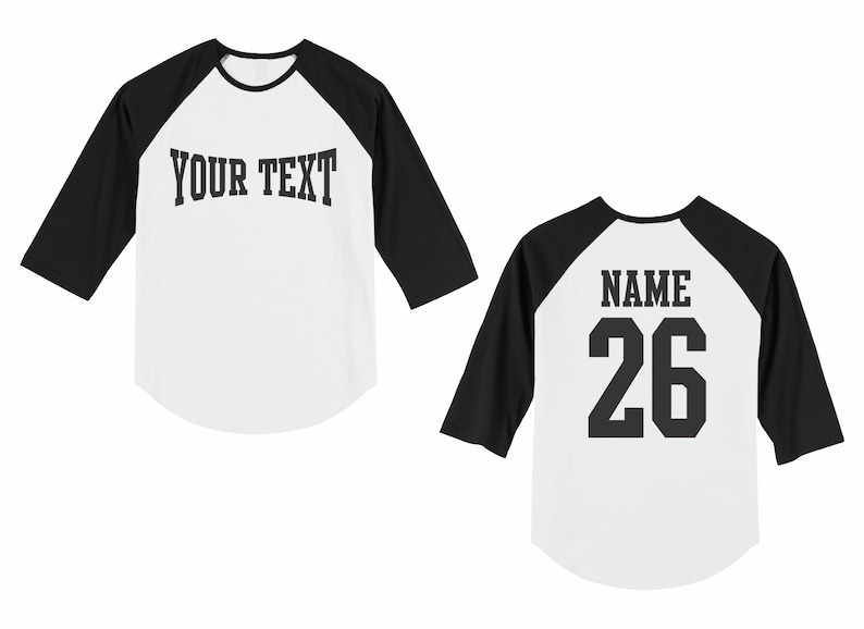 89dd2d763 Personalized custom name and number toddler raglan baseball