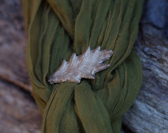 Oak Leaf Brooch -Bronze