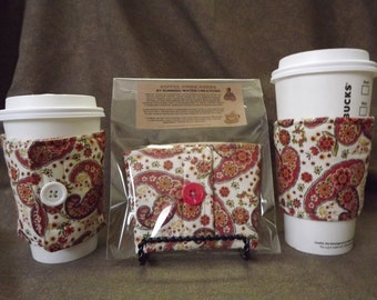 Coffee Cozy by RayvnneHawkesCottage - Paisley w/ pocket