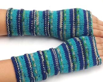 Fingerless Gloves, Hand Knit Arm Warmers