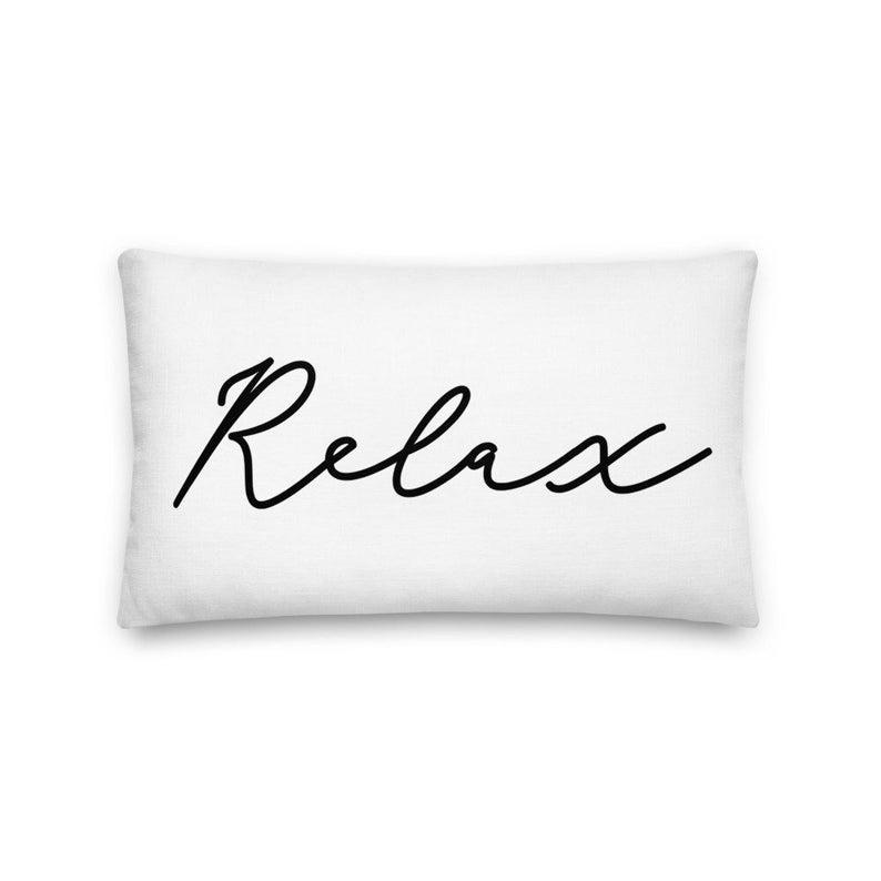 Relax Pillow Decorative Throw Pillow with Saying Pillow with image 0