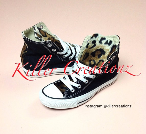 Customized Converse with Leopard any size color made to  ed16b4f37096