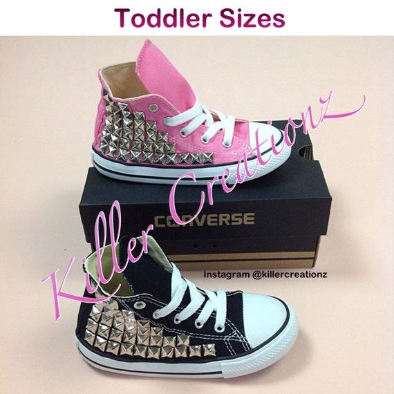 973c67af03e310 Infant Toddler size Custom Studded Converse made to order