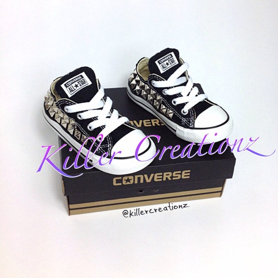 52c16ee6617542 Custom Studded Converse toddler sizes made to order
