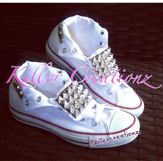 Custom studded tongue Converse ANY SIZECOLOR made to order